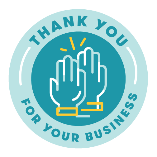 thank you for your business badge