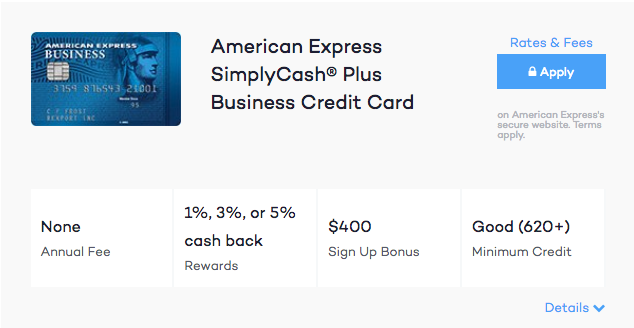 Simply Cash Business Credit Card American Express Gallery
