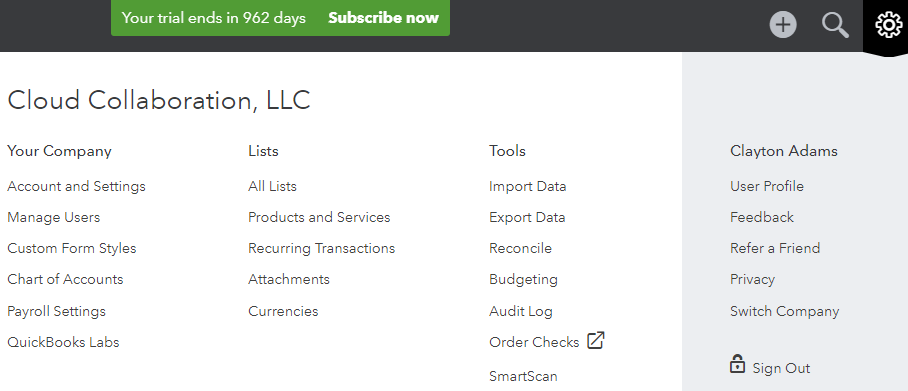 quickbooks definitions