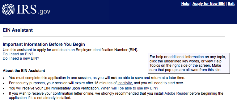 You can apply for an EIN for free at IRS.gov.