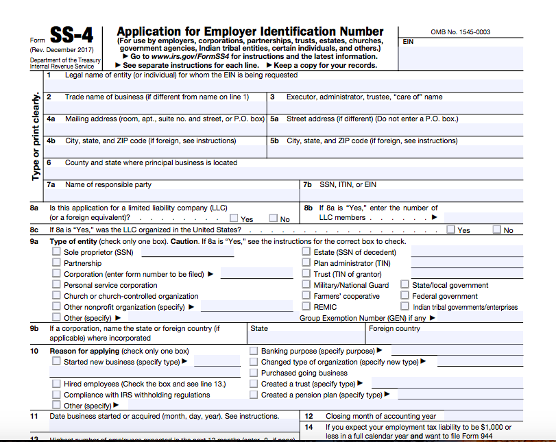 Irs Form Ss 4 What It Is And Exactly How To Get Yours