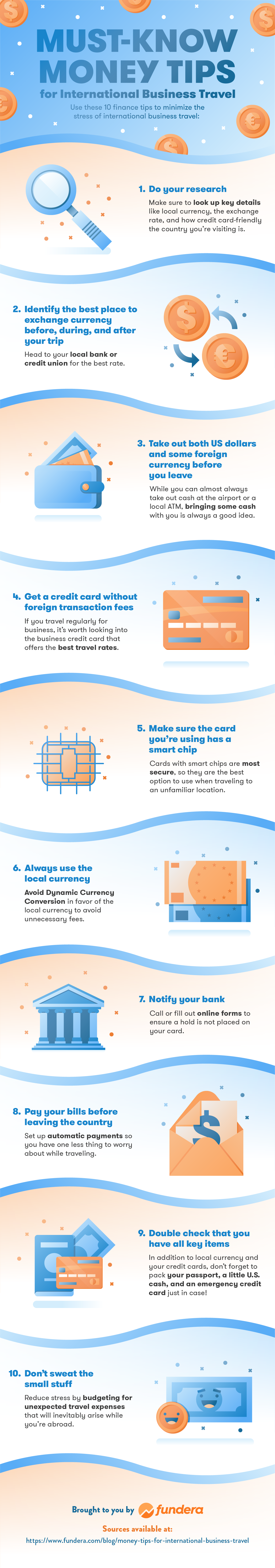 Must Know Money Tips For International Business Travel Infographic
