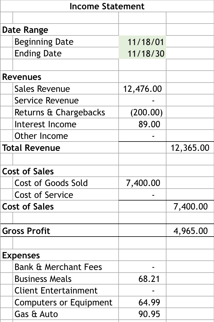 how to create a bookkeeping system in excel