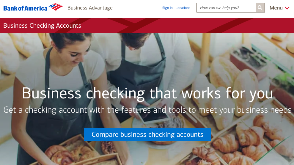 Bank of America best bank for small business