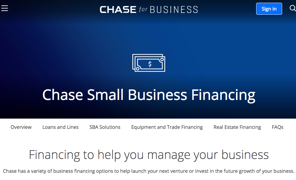 Chase Best Bank for Small Business
