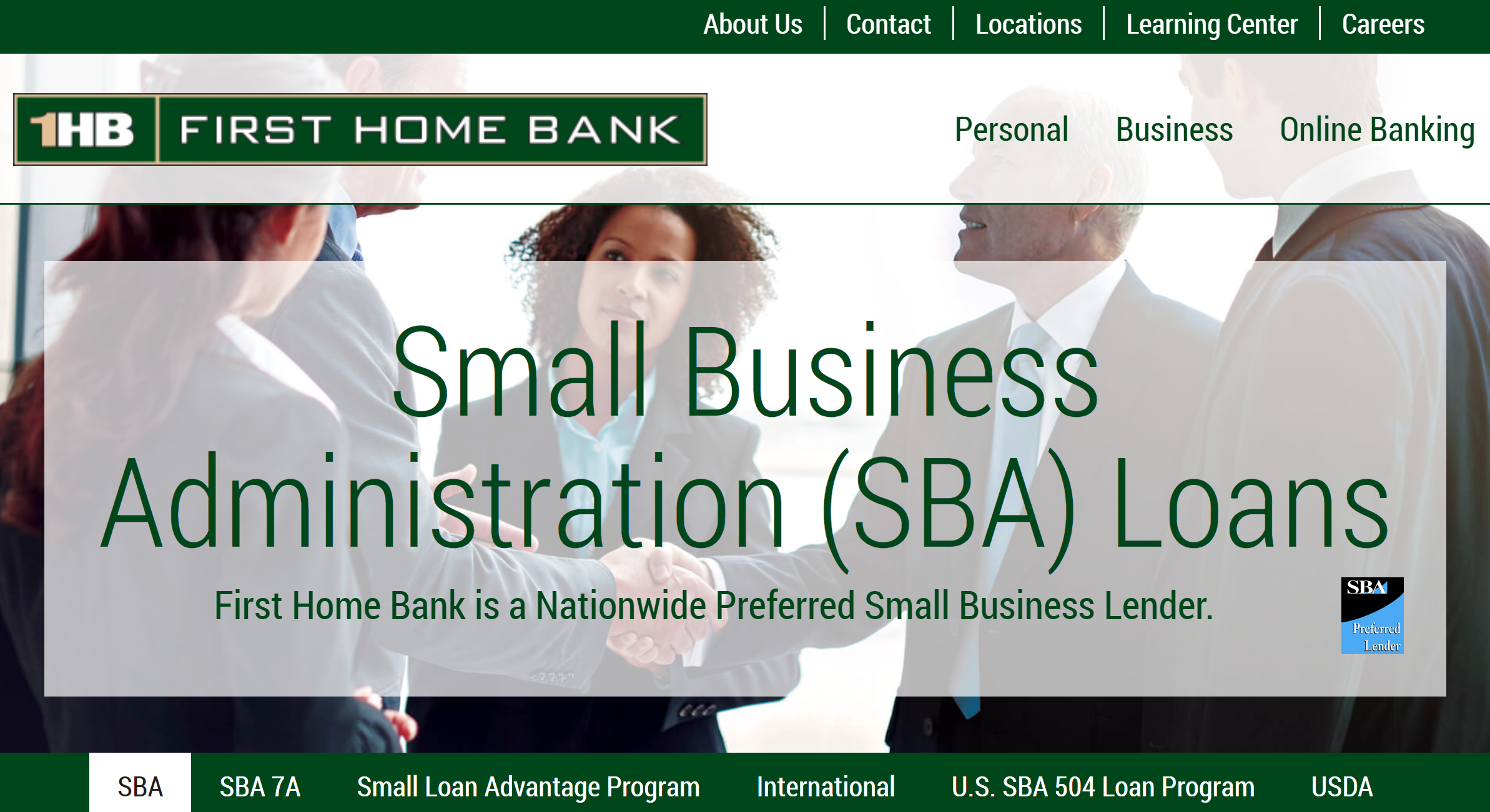 First Home Bank Best Bank for Small Business for SBA Loans