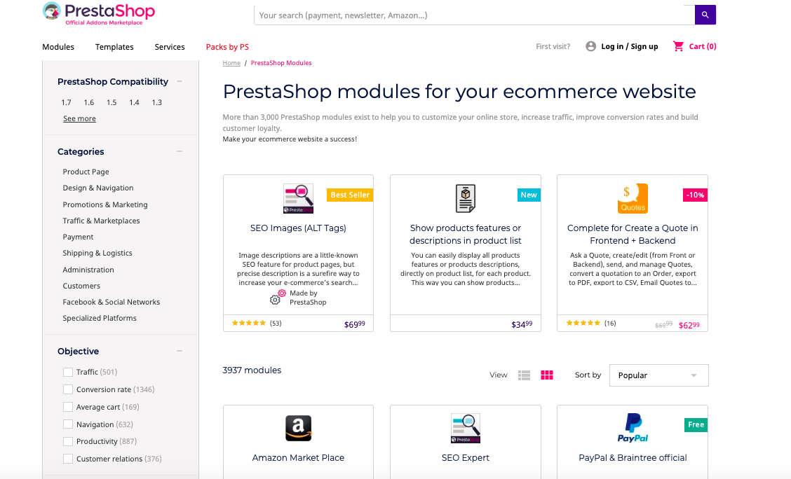 prestashop add-ons marketplace