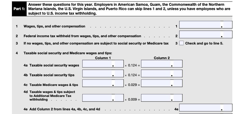 irs form 944 part 1