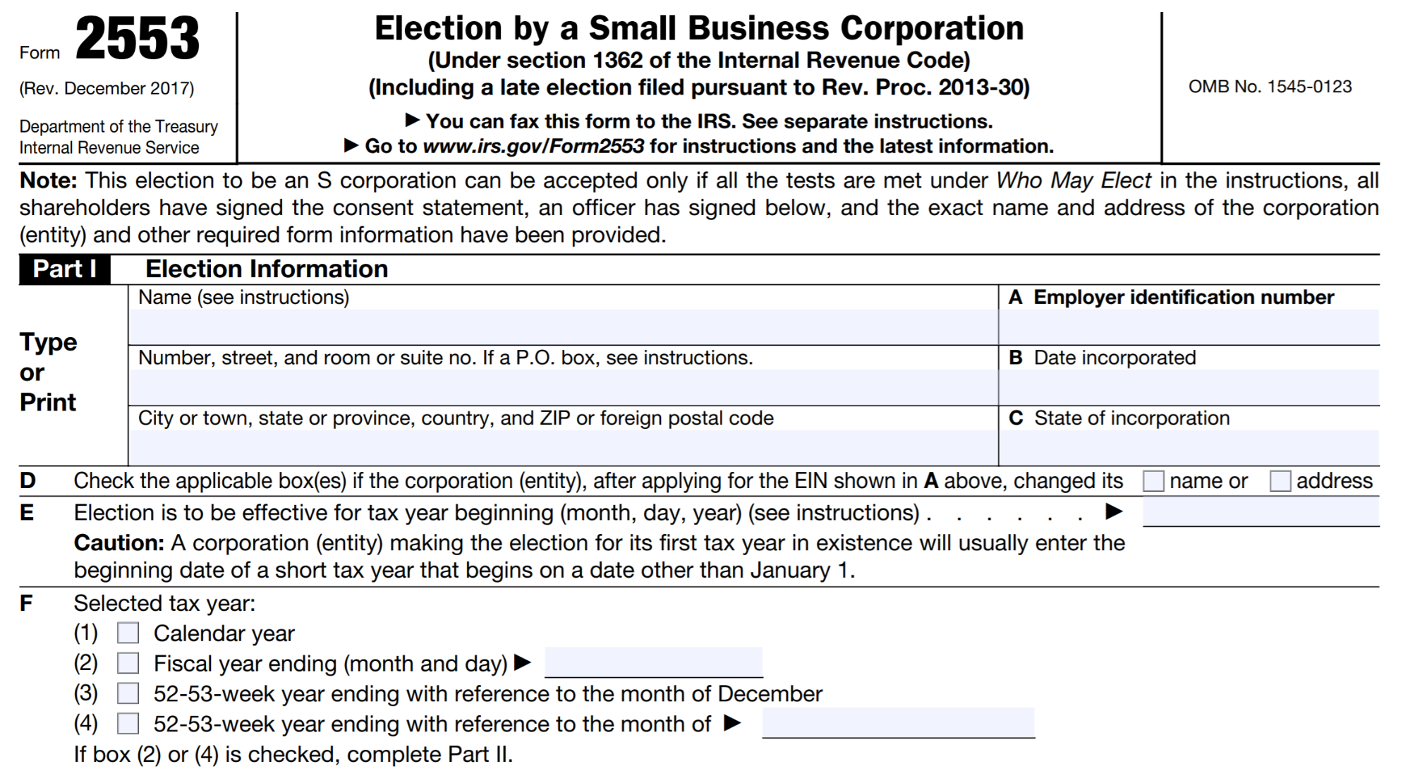 llc vs. s-corp form 2553