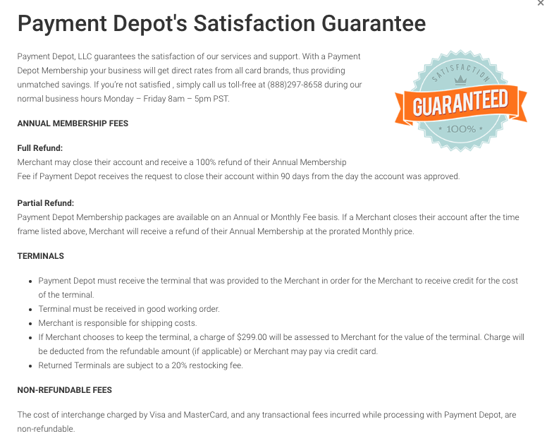 payment depot reviews