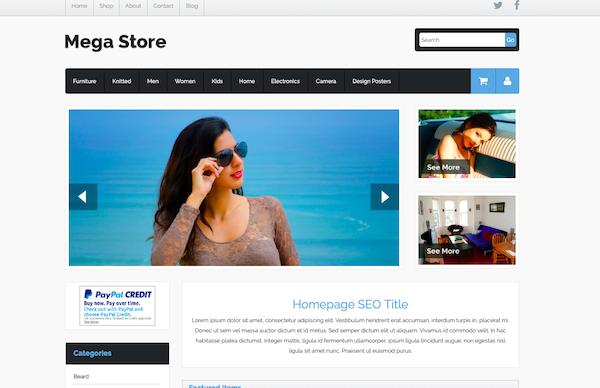 sample AmeriCommerce store