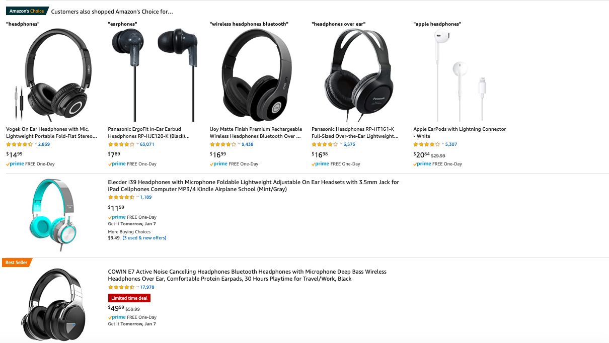 tips for selling on amazon, listing example