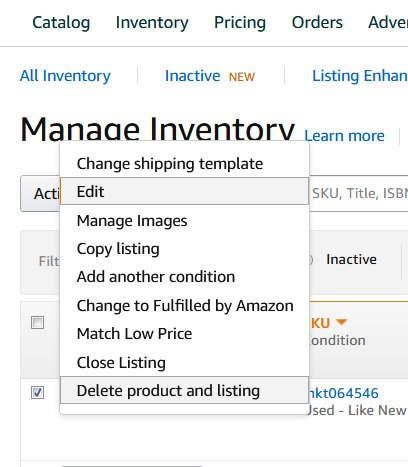 tips for selling on amazon, manage inventory