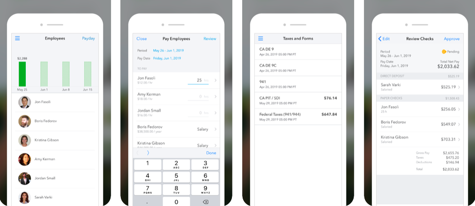 gusto vs. quickbooks payroll, quickbooks payroll mobile app